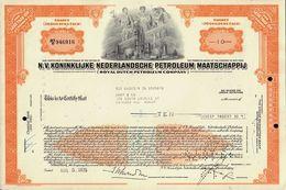 NV Koninklijke Nederlandsche Petroleum Maatschappij ( Royal Dutch Petroleum)  Now Shell Oil Netherlands / GB / USA 1970s - Aardolie