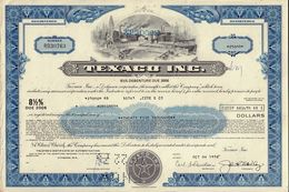 OIL / USA : Texaco Inc - USD 25,000.00 Old Certificate Dd 1970s - Oil