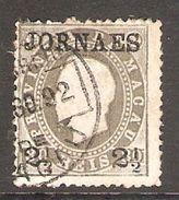 001402 Macao 1892 Newspaper 2 1/2 On 80 Reis FU Perf 12.5 - Used Stamps