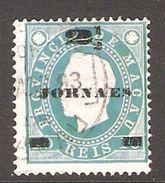 001403 Macao 1893 Newspaper 2 1/2 On 20 Reis FU Perf 13.5 - Used Stamps