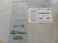 Lot De 3 Documents V.B - HO Scale