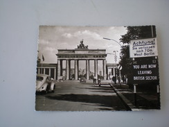 Berlin, Brandenburger Tor, 1960, You Are Now Leaving British Sector - Deutschland
