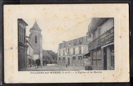 CPA 94 - Villiers-sur-Marne, L'église Et La Mairie - Villiers Sur Marne