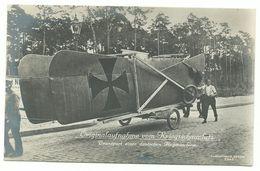 1. Weltkrieg Transport Einer Deutschen Flugmaschine Flugzeug Photo-AK - Guerre 1914-18