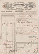 Roulage Bardoux & Prax Perpignan 1860 Jolie Gravure Transport 1 Caisse De Liqueurs Pour Le Perthus Cachet Fiscal Dos - Transports