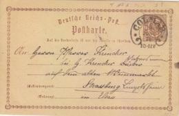 Haut Rhin, Entier 1/2pf Brun Obl. Colmar Fer à Cheval (T 117) 10/06/74 Pour Strasbourg - Alsace-Lorraine