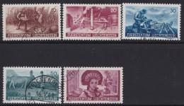 Liechtenstein   .    Yvert   .   167/171       .        O     .          Gebraucht - Liechtenstein