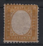 1862 80 C. Giallo MLH - 1861-78 Victor Emmanuel II.