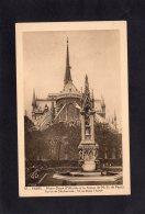 """73088    Francia,   Paris,   Notre-Dame,  L""""Abside  Et  La Statue De Notre-Dame De Paris,  NV - Notre Dame De Paris"""