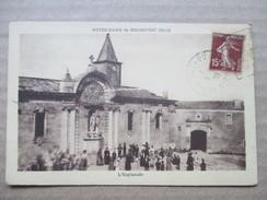 GARD  30  ROCHEFORT  -  NOTRE-DAME  -  L ' ESPLANADE      TRES  ANIME       TTB - Rochefort-du-Gard