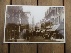 CPA PHOTO ROYAUME UNI ANGLETERRE SHREWSBURY PRIDE HILL VOITURES ANCIENNES COMMERCES - Shropshire