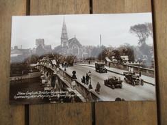 CPA PHOTO ROYAUME UNI ANGLETERRE SHREWSBURY NEW ENGLISCH BRIDGE  VOITURES ANCIENNES - Shropshire