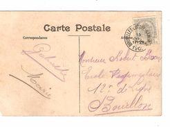 TP 81 S/CP(déf) Charleroi Place Du Sud C.Ambulant BXL -Luttre-Namur 15/4/1909 ? V.Bouillon AP1117 - Poststempel