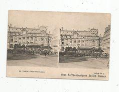 Cp , Carte Stéréoscopique , Julien Damoy , 75 , Paris,chemin De Fer , Gare Saint Lazare , Vierge - Cartes Stéréoscopiques