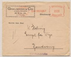 Österreich - Nederlands Indië - 1930 - Business Cover 8 Gr BAR BEZAHLT Van Wien Naar Bandoeng - 1918-1945 1. Republik