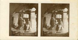 PHOTO STEREOSCOPIQUE  8.5X16 (religion  Christianisme)      Jésus  Et La Samaritaine - Stereoscopio