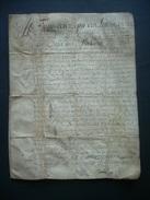MANUSCRIT.. PARCHEMIN VELIN Du XVIIe SIECLE De 1667 De NORMANDIE MANCHE à Déchiffrer, VICOMTE AVRANCHES - Manoscritti