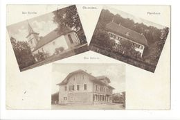 17757 - Gampelen Pfarrhaus Die Kirche Die Schule Multivues - BE Berne
