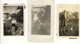 Eysines 3 Photos Enfants Garçon Fille Chien - Places