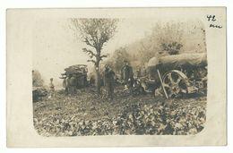 1. Weltkrieg Seilwinde Zieht Einen 30,5 Mörser In Stellung Photo-AK - Weltkrieg 1914-18