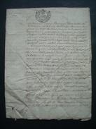 MANUSCRIT Du XVIIIe SIECLE De 1740 De NORMANDIE MANCHE à Déchiffrer, Bailliage D'AVRANCHES.. GENERALITE De CAEN - Manuskripte
