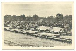 1. Weltkrieg Östereichische Pferdefeldbahn Photo-AK - Guerre 1914-18