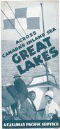 Brochure Toerisme Tourisme - Great Lakes - Canada - Canadian Pacific 1934 - Tourism Brochures