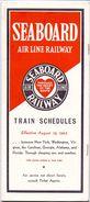 Brochure Toerisme Tourisme - Seaboard Air Line Railway - Train Schedules - Time Tables 1945 - Europe