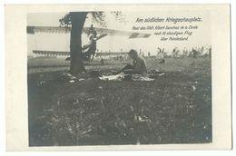 1. Weltkrieg Rast Des Oblt. Albert Sanchez De La Cerda Nach Flug über Feindesland Flugzeug Flieger Photo-AK - Weltkrieg 1914-18