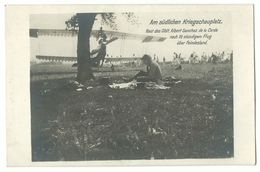 1. Weltkrieg Rast Des Oblt. Albert Sanchez De La Cerda Nach Flug über Feindesland Flugzeug Flieger Photo-AK - Guerra 1914-18