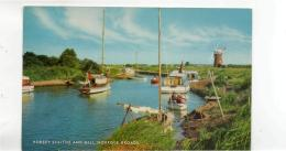 Postcard - Horsey Staithe & Mill,Norfolk Broads - Card No 1300417h - Posted But Date Obscured Very Good - Postcards