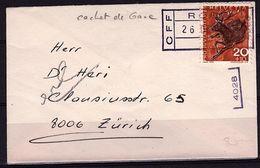 CH 185 - SUISSE N° 761 Sur Enveloppe Visite Avec Cachet De Gare - Pro Juventute