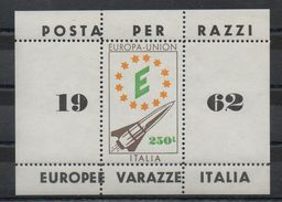 1962  VARAZZE  POSTA PER RAZZO  AEREA  MNH   BOLAFFI / SASSONE - 6. 1946-.. Repubblica