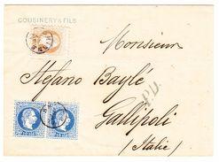 1872 Österreichische Post In Smyrna, Faltbrief Nach Gallipoli - Levante-Marken