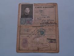 Carte D'IDENTITE Français : VASSAU Max (1920 Rouen) Cachet 1940 ( Zie Foto Details ) ! - Oude Documenten