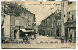 - VEYNES -  ( Hautes-Alpes ), Rue Sous Le Barry, Coiffeur, Cycles, Animation, épaisse, écrite, 1916, TBE, Scans. . - France
