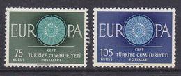 Europa Cept 1960 Turkey 2v ** Mnh   (36930L) - 1960