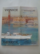 VENICE - GREECE. REGULAR WEEKLY M/S PHILIPPOS. 5 SELECTED TOURS - KAVOUNIDES SHIPPING, 1960. M/S PHILIPPOS & EKATERINI. - Boats