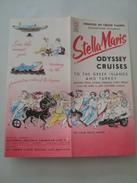 STELLA MARIS ODYSSEY CRUISES - SUN LINE, GREECE, 1959. 8 PAGE BROCHURE. COLOUR PHOTOS. CRUISE RATES. MINT. - Boats