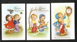 3 Cartes Enfants - Dessin Illustrateur - Carte Non écrite , Comme Neuve - Groupes D'enfants & Familles