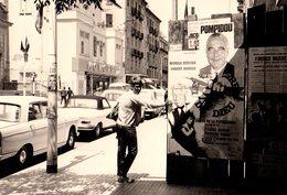 Photo Originale 1969, Monoprix, Pompidou, Peugeot 404 & 204 Cab & Jean Gabin. Toute Une époque ! - Automobiles