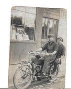 36  RARE CARTE PHOTO  CHABRIS  PHOTOGRAPHE  MICHEL- FRANQUELIN  MOTOS - France