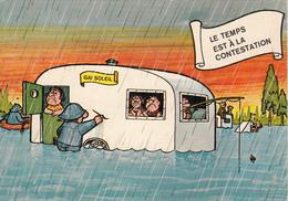 """En VACANCE """" Le Temps Est à La Contestation"""" Caravane Dans L'eau,Pçecheur.... - Humour"""