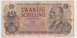 AUTRICHE 20 Schillings 1956 P136a VG+ - Autriche