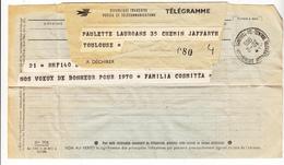 Télégramme Pour Toulouse - Marcophilie (Lettres)