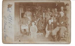 08   CARTE PHOTO  SAINT ETIENNE A ARNES   NOEL 1916   ...  2 SCANS - Francia