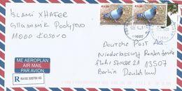 Kosovo 2013 Podujevo Dove Pigeon Barcoded Registered Cover - Kosovo