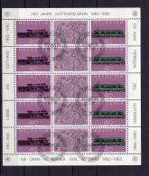 Suisse 1978-1982 Bloc LEMANEX / FEUILLET 100 Ans GOTHARD Obl. Centrale 1er Jour - Blocks & Sheetlets & Panes