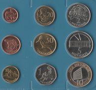 MOZAMBIQUE COIN SET 9 MONNAIES: 1 CENTAVO - 10 METICALS 2006 ANIMALS - Mozambique