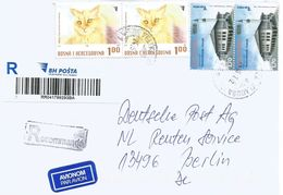 Bosnia Herzegovina 2016 Velika Cat Mosque Barcoded Registered Cover - Bosnië En Herzegovina